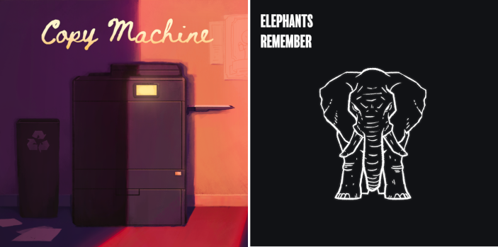 Copy Machine and Elephants Remember now available on itch.io
